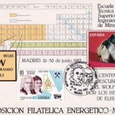 Sellos: WOLFRAMIO BICENTENARIO DESCUBRIMIENTO GRANDES EFEMERIDES 1983 (EDIFIL 2715) TM MATASELLO CUÑO MADRID. Lote 245551390