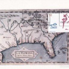 Sellos: CABEZA DE VACA V CENTENARIO DESCUBRIMIENTO AMERICA 1988 (EDIFIL 2973) EN TM PRIMER DIA. RARA ASI. Lote 246290350