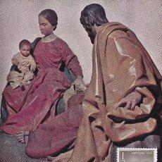 Sellos: RELIGION NAVIDAD 1962 NACIMIENTO PEDRO DE MENA (EDIFIL 1478) EN TARJETA MAXIMA PRIMER DIA. MPM. Lote 246294550