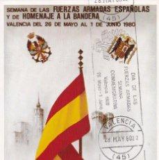 Sellos: DIA DE LAS FUERZAS ARMADAS 1980 (EDIFIL 2572) TM MATASELLOS RODILLO VALENCIA HIMNO REGIONAL RARA.. Lote 246461600