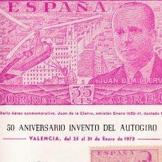 Sellos: JUAN DE LA CIERVA 1941-1947 (EDIFIL 942) EN TM MATASELLOS 50 ANIVERSARIO AUTOGIRO VALENCIA 1973 WXZ. Lote 63679751