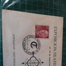 Sellos: LA CORUÑA GALICIA MATASELLO EXPOSICIÓN FILATÉLICA JORNADAS NACIONALES FILATELIA EXFILMA 1976 TARJETA. Lote 254555380