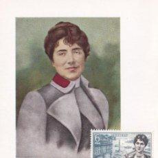 Sellos: ROSALIA DE CASTRO PERSONAJES ESPAÑOLES 1968 (EDIFIL 1867) TM PD MATASELLOS SANTIAGO COMPOSTELA. WXZ. Lote 257439860