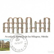 """Selos: SPAIN MAXICARD – ESPAÑA TARJETA MÁXIMA CON SELLO PERSONALIZADO DE """"LOS MILAGROS"""" DE MÉRIDA. Lote 260769015"""