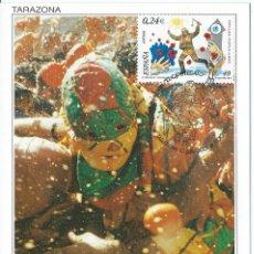 Sellos: 2001. MÁXIMA/MAXIMUM CARD. EDIFIL 3806. EL CIPOTEGATO. MATASELLOS P.D. TARAZONA. FIESTAS POPULARES. Lote 261862290