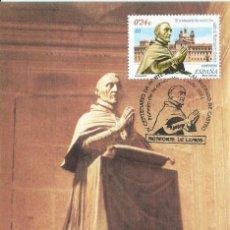 Sellos: 2001. MÁXIMA/MAXIMUM CARD. EDIFIL 3801. RODRIGO DE CASTRO. MATASELLOS P.D. MONFORTE DE LEMOS.. Lote 261862785