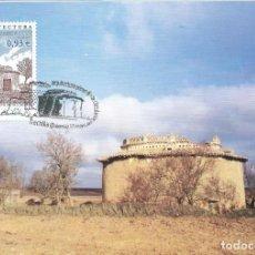 Sellos: 2001. MÁXIMA/MAXIMUM CARD. EDIFIL 3799. PALOMAR DE VILLACONCHA. MATASELLOS P.D. FRECHILLA (PALENCIA). Lote 261863235