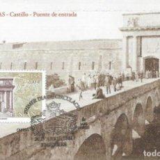Sellos: 2001. MÁXIMA/MAXIMUM CARD. EDIFIL 3787. CASTILLO DE FIGUERES. MATASELLOS P.D. FIGUERES (GIRONA).. Lote 261864965