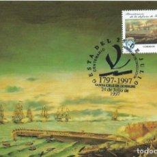 Sellos: 1997. MÁXIMA/MAXIMUM CARD. EDIFIL 3500. BICENT. DEFENSA. MATASELLOS P.D. SANTA CRUZ DE TENERIFE.. Lote 268739174