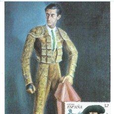 "Sellos: 1997. MÁXIMA/MAXIMUM CARD. EDIFIL 3488. MANUEL RODRÍGUEZ ""MANOLETE"". MATASELLOS P.D. CÓRDOBA.. Lote 268744719"