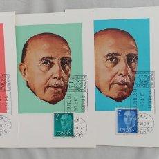 Sellos: ESPAÑA 1974-75 GENERALÍSIMO FRANCISCO FRANCO EDIFIL 2225/2228 MATASELLO PRIMER DÍA. Lote 276906963
