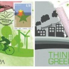 Sellos: LUXEMBOURG 2016 - EUROPA THINK GREEN CARTE MAXIMUM SET. Lote 276971543