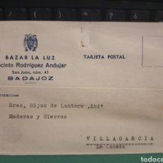 Selos: TARJETA POSTAL. LA LUZ .BADAJOZ 1940. Lote 277287813
