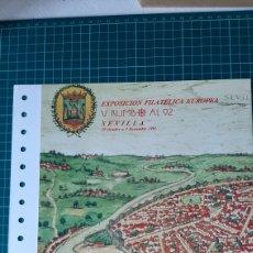 Sellos: SEVILLA DOCUMENTO FILATELICO NÚMERO 18 MATASELLO EXPOSICIÓN FILATÉLICA V RUMBO 1992 ESPAÑA 2991. Lote 277557328