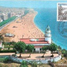 Selos: FARO DE CALELLA PAISAJES Y MONUMENTOS 1986 (EDIFIL 2838) TM PD MOD 1 MATASELLOS CALELLA (BARCELONA). Lote 278466488