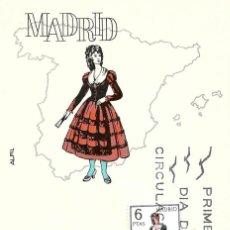 Sellos: TRAJE DE MADRID TRAJES TIPICOS ESPAÑOLES 1969 (EDIFIL 1904) EN TARJETA MAXIMA PRIMER DIA DE ALFIL.. Lote 278595188