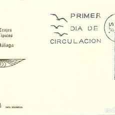 Sellos: TRAJE DE MALAGA TRAJES TIPICOS ESPAÑOLES 1969 (EDIFIL 1905) EN TARJETA MAXIMA PRIMER DIA DE IM.. Lote 278595603