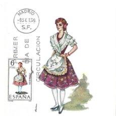 Sellos: TRAJE DE MURCIA TRAJES TIPICOS ESPAÑOLES 1969 (EDIFIL 1906) EN TARJETA MAXIMA PRIMER DIA DE MF.. Lote 278766548