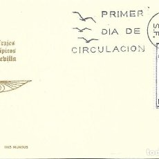 Sellos: TRAJE DE SEVILLA TRAJES TIPICOS ESPAÑOLES 1970 (EDIFIL 1956) EN TARJETA MAXIMA PRIMER DIA DE IM.. Lote 278923103