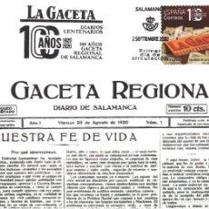 """Sellos: TARJETA MÁXIMA DIARIOS CENTENARIOS """" LA GACETA """" SALAMANCA (CORREOS DEL 2 DE SEPTIEMBRE DE 2020). Lote 289423533"""
