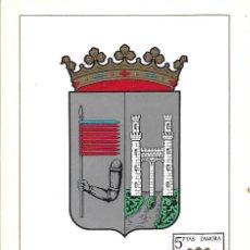 Sellos: ESCUDO DE ZAMORA 1966 MATASELLOS PROVINCIA (EDIFIL 1700) EN TARJETA MAXIMA PRIMER DIA. MPM. Lote 292539013