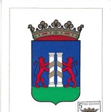 Sellos: ESCUDO DE BADAJOZ 1962 MATASELLOS PROVINCIA (EDIFIL 1411) EN TARJETA MAXIMA PRIMER DIA. MPM.. Lote 293193853