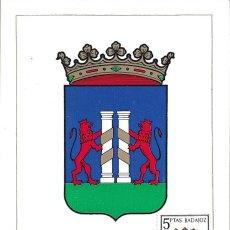 Sellos: ESCUDO DE BADAJOZ 1962 MATASELLOS MADRID (EDIFIL 1411) EN TARJETA MAXIMA PRIMER DIA. MPM.. Lote 293193998