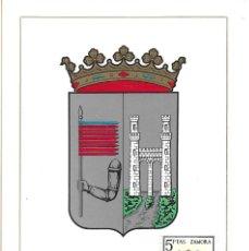 Sellos: ESCUDO DE ZAMORA 1966 MATASELLOS PROVINCIA (EDIFIL 1700) EN TARJETA MAXIMA PRIMER DIA. MPM. Lote 296814683
