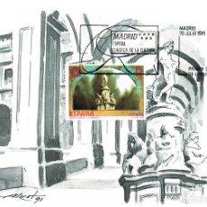 Sellos: EDIFIL 3122, FUENTE DE APOLO, (MADRID CAPITAL EUROPEA CULTURA), TARJETA MAXIMA DE 29-7-1991. Lote 296848878