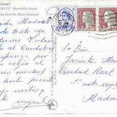 Selos: TARJETA C A ESPAÑA FRANQUEO MICXTO FRANCIA INGLATERRA. Lote 916623