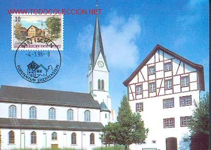LIECHTENSTEIN - ARQUITECTURA - ESCHEN (Sellos - Extranjero - Tarjetas Máximas)