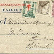 Sellos: TARJETA DE MADRID A SAN JUAN (ALICANTE). Lote 25728444