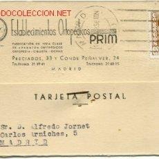 Sellos: PRECIOSA TARJETA COMERCIAL DE MADRID. Lote 27110960