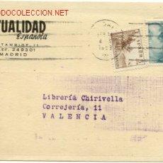 Sellos: PRECIOSA TARJETA COMERCIAL DE MADRID A VALENCIA. Lote 27594121
