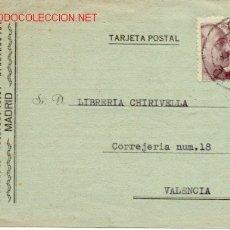 Sellos: BONITA TARJETA COMERCIAL DE MADRID A VALENCIA. Lote 27110964