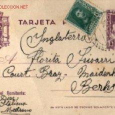 Sellos: TARJETA POSTAL REYES CATÓLICOS Y SELLO DE 15 CTS. DE FERNANDO EL CATÓLICA .. 1937 . Lote 25751927