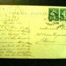 Sellos: TARJETA POSTAL A PARÍS MATASELLO 1909. REPÚBLICA FRANCESA 5 C. . Lote 23670771