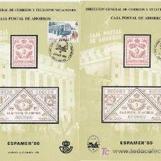 Selos: BONITA PAREJA DE DE TARJETAS DE ESPAMER 80 NUMERADAS. Lote 3070713