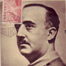 Sellos: GENERAL FRANCO TARJETA CIRCULADA CORREO AEREO 1939 VALENCIA-GUAYANA BRITANICA. CM. RARA ASI.. Lote 22752576