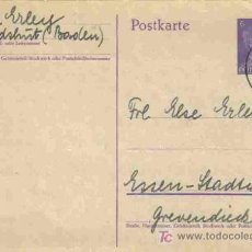 Sellos: ALEMANIA TARJETA ENTERO POSTAL HITLER CIRCULADA 1942 . Lote 3376652