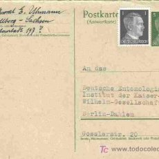 Briefmarken - ALEMANIA TARJETA ENTERO POSTAL HITLER CIRCULADA SIN MATASELLAR - 3376685