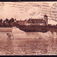 Sellos: POSTAL DE SAN SEBASTIAN CIRCULADA A BUENOS AIRES EN 1928 - VISTA PALACIO REAL DE MIRAMAR. Lote 24829335