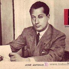 Sellos: JOSE ANTONIO PRIMO DE RIVERA (FOTO MARIN) EN BONITA Y RARA TARJETA NUEVA. MPM.. Lote 26307843