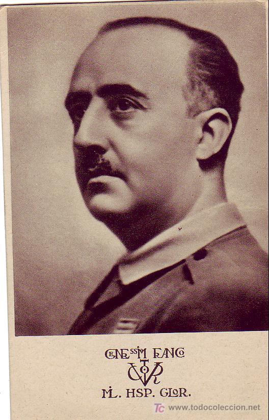 GENERAL FRANCO BONITA Y RARA TARJETA PATRIOTICA ED. P LA VERDAD NO TEME NI OFENDE. MPM. (Sellos - España - Tarjetas)