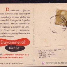 Sellos: TARJETA POSTAL DE PROPAGANDA LAB. ABBOTT ENVIADA EN 1957 DE TOLEDO A BUENOS AIRES. Lote 21899884