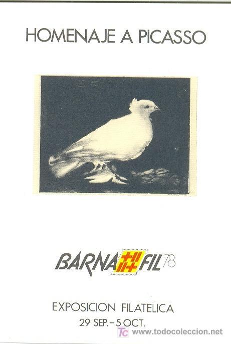 HOJITA RECUERDO DE BARNAFIL 78 EN HOMENAJE A PICASSO (Sellos - España - Tarjetas)