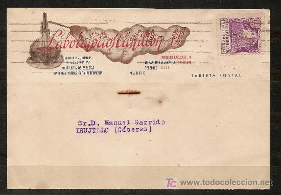 TARJETA POSTAL,LABORATORIOS CASTILLON S A. (Sellos - España - Tarjetas)