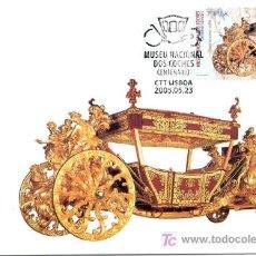Sellos: PORTUGAL 2005.- TARJETA MAXIMA.- 100 AÑOS DEL MUSEO NACIONAL DE COCHES. TEMA HITORIA DEL AUTOMOVIL. Lote 5007755