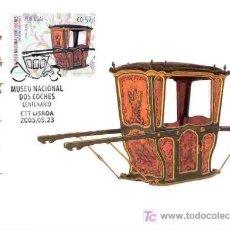 Sellos: PORTUGAL 2005.- TARJETA MAXIMA.- 100 AÑOS DEL MUSEO NACIONAL DE COCHES. TEMA HITORIA DEL AUTOMOVIL. Lote 5007759