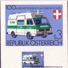 Sellos: AUSTRIA 1523 - AÑO 1981 - CENTENARIO DEL SERVICIO MEDICO DE URGENCIAS . Lote 5298197